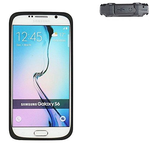 K-S-Trade® Für Simvalley Mobile SPT-210 Silikonbumper/Bumper Aus TPU Für Simvalley Mobile SPT-210, Schwarz Schutzrahmen Schutzring Smartphone Case Hülle Schutzhülle Für Simvalley Mobile