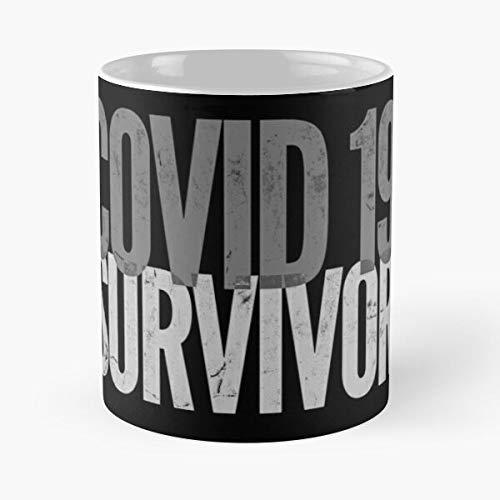 Covid 19 Survivor 2020 Funny Outbreak Virus Design Humor Quarantine Gift Classic Mug - Coffee Tea Cup White 11 Oz The Best Gift For Holidays