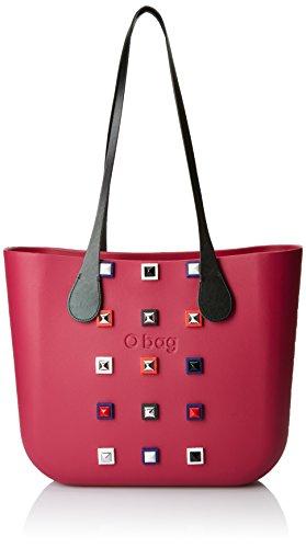 O bag B001_422, Borsa a Mano Donna, Multicolore (Sangria), 14x31x39 cm (W x H x L)