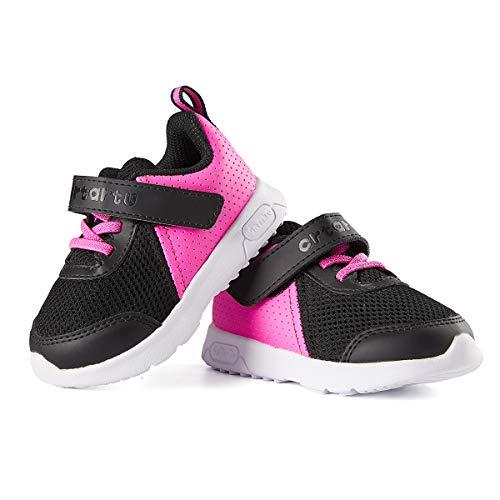 CRTARTU Baby Shoes Tennis Boy Girls Sneakers Toddlers Running Shoes Anti-Slip Infant Walking Shoes Hot Pink