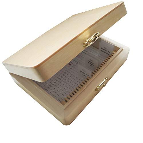 Hemobllo Aufbewahrungsbox für Objektträger aus Holz 26-Slot-System für Insekten-Objektträger zur Bildung von Werkzeugen
