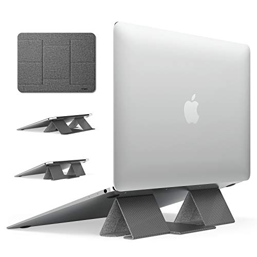 Ringke Folding Stand 2, Laptop Stand, Foldable Portable Adjustable Height Ergonomia Universal Notebook PC Holder, Riser for Dell, HP, Lenovo, Macbook 10'~17' - Grey