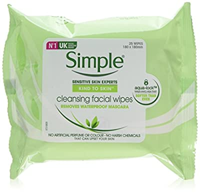 Simple Kind to Skin Cleansing Facial Wipes to Lift Impurities and Make-up Out, 25 Face Wipes, (Pack of 6 x 25) by Simple
