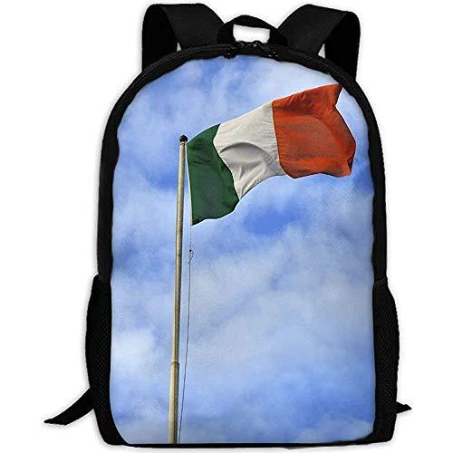 Hdadwy Backpack,Irish Flag in Blue Sky Adult Travel Backpack School Casual Daypack Oxford Outdoor Laptop Bag College Computer Shoulder Bags