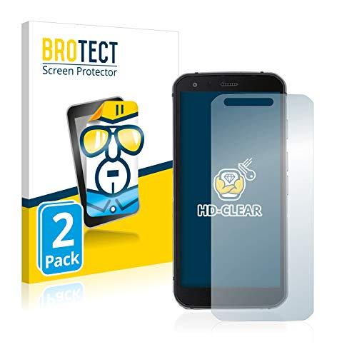 BROTECT Schutzfolie kompatibel mit Caterpillar Cat S62 Pro (2 Stück) klare Bildschirmschutz-Folie