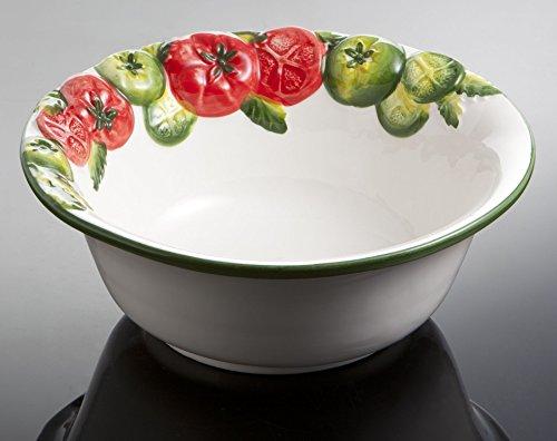 Bassano Ausgefallene italienische Keramik runde Tomaten Salat-Schüssel-Schale