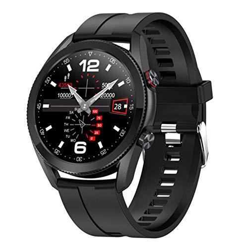 Bluetooth Call L19 Moda Moda Smart Watch Mujeres Hombres Deportes SmartWatch Caso de aleación IP68 Relojes Inteligentes a Prueba de Agua Reloj iOS Android,D