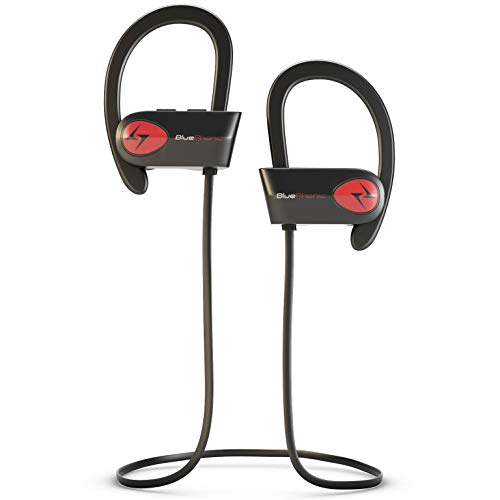 Bluephonic Sports Workout Wireless Headphones, DeepBassX Beats HD Stereo Sound, IPX7 Sweat and Water Proof Fit in Ear Bluetooth Earbuds, Noise Cancelling Running Earphones, Built in Mic, Play 8 hr