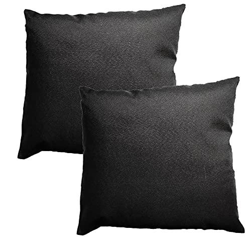Danhype 2 Fundas de Cojín 45X45 cm. Fundas de Almohada, sofá, Cama, Muy cómodos y Decorativos. (Negro)