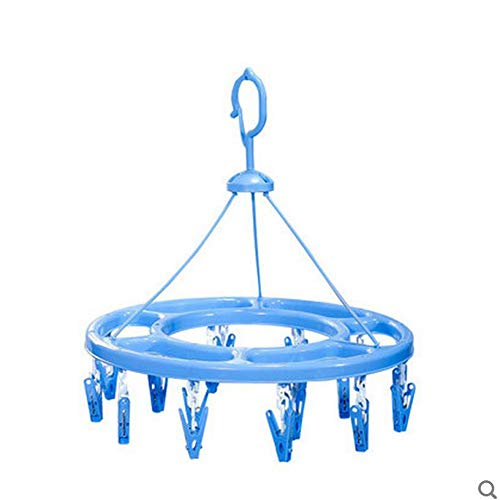 2 unids/Lote Camelias Perchero Multifuncional círculo de plástico Ropa Interior Calcetines Carpeta de lavandería pequeños estantes de Discos de Clip