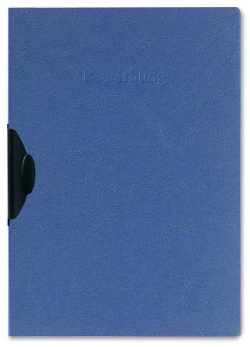 Herlitz 10417012 Bewerbungsmappe A4 RC-Karton Express-Clip blau, 30 Blatt, blau 5er Packung