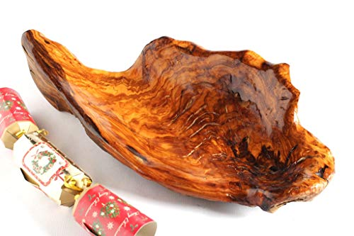 Holzschale, Hand geschnitzt Jahrhundert alten Olivenholz. Einzigartiges Geschenk für Weihnachten, Hochzeit, Haus Erwärmung oder irgendeine gelegenheit. Gratisversand.
