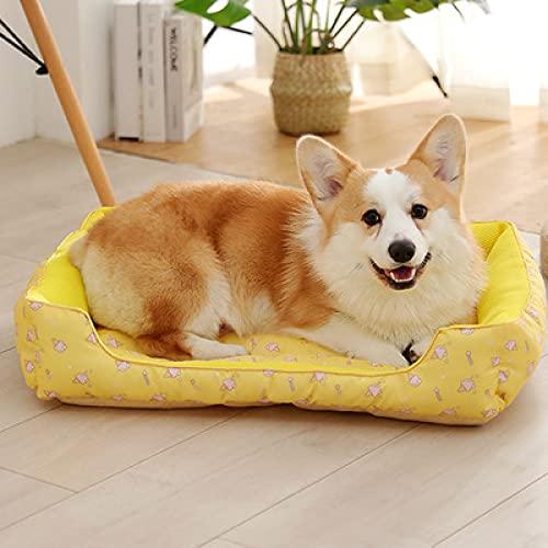 Alexny Colchonetas para Mascotas, Camas para Mascotas de Verano, colchonetas frías, colchonetas a Rayas de Seda Helada, perreras Suaves para Perros