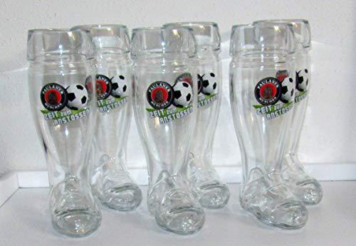 Paulaner Weißbierglas/Mini Stiefel/Zeit zum Anstossen/Limitiert / 6er Pack/Bierglas