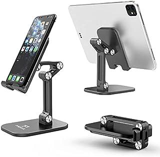 Phone Stand Holder, Tekpatt Foldable Mobile Stand Holder for Desktop Stand, Portable Phone Desk Holder, Stable Mobile Desk...