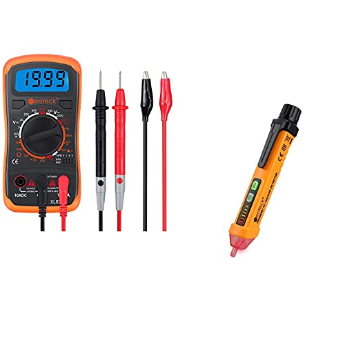Neoteck Digital Multimeter + Non-Contact Voltage Tester AC 12-1000V Voltage Detector Pen
