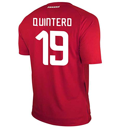 New Balance Quintero #19 Panama Home Soccer Men's Jersey FIFA World Cup Russia 2018 (US-S)