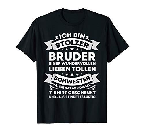 Lustige Bruder Schwester Geburtstag Weihnachten Geschenkidee T-Shirt