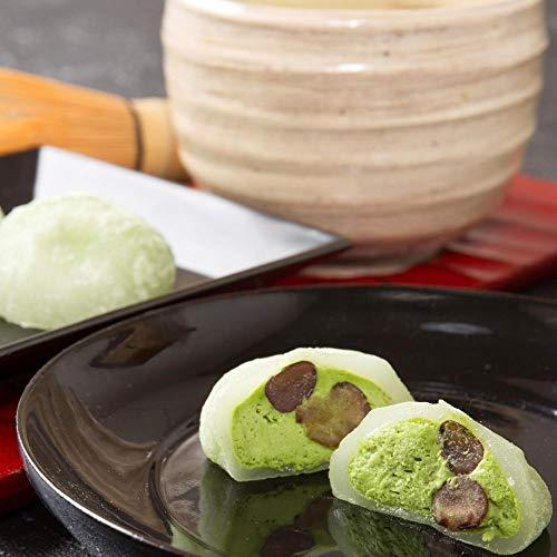 新杵堂 抹茶ムース大福 6個 抹茶 ムース 大福 小豆 和菓子 お土産 ギフト | 抹茶ムースと羽二重餅のとろける美味しさ