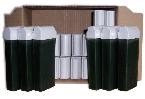 Storepil - 24 recharges 100 ml de cire à épiler jetable - CHLOROPHYLLE pour épilation