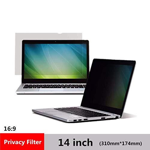 CYDYSY Filtro de privacidad de 14 Pulgadas Anti espía Protege la película Protectora para el Ordenador portátil 16: 9 (310 mm * 174 mm)