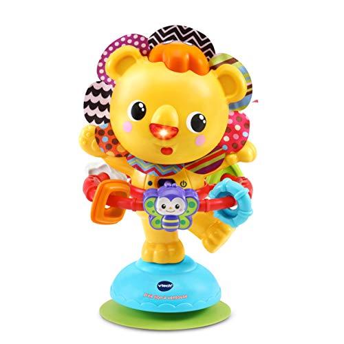 VTech - Hula-Hoop, P'tit Lion à Ventouse, Jouet Ventouse pour Chaise Haute - Version FR