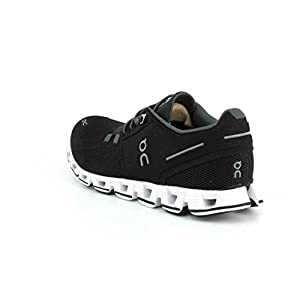 on Running Womens Cloud Road Shoes Black/White SZ 7.5