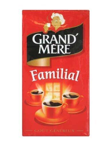 Kaffee Grand Mere Familial, gemahlener Kaffee aus Frankreich, 250g