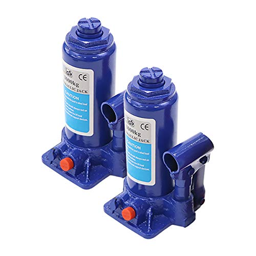 選べる2カラー 油圧式 ボトルジャッキ 定格荷重約3t 約3.0t 約3000kg 2台セット 2個 油圧ジャッキ だるまジャッキ ダルマジャッキ ジャッキ 手動 安全弁付き ジャッキアップ タイヤ交換 工具 小型 軽量 車載用 車 整備 修理 メンテナン