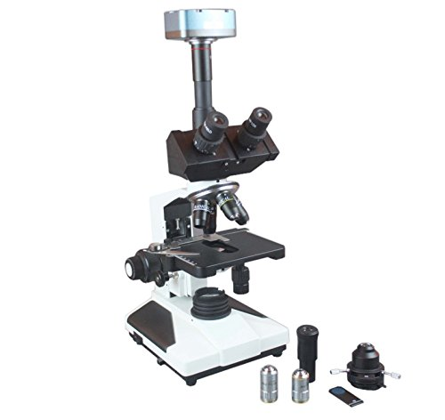 Radical Professional Quality Trinocular Research Phase Contrast Microscope w USB Camera