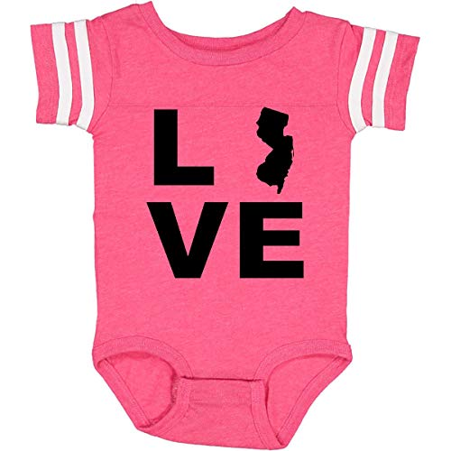 inktastic Love New Jersey Infant Creeper 12 Months Football Pink and White 21e69