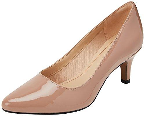 Clarks Isidora Faye, Zapatos de Tacón para Mujer, Beige (Nude Patent-), 40 EU