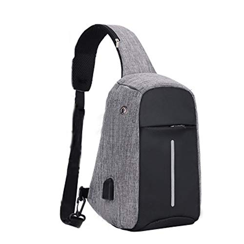 New Anti-Theft USB Charging Chest Bag Multifunctional Crossbody Bag Men and Women Casual Sports Backpack