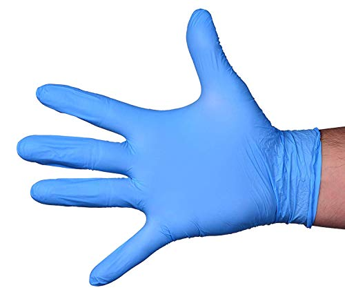 Pantryware Essentials Blue Nitrile Exam Gloves - Size L - Pack of 100ct