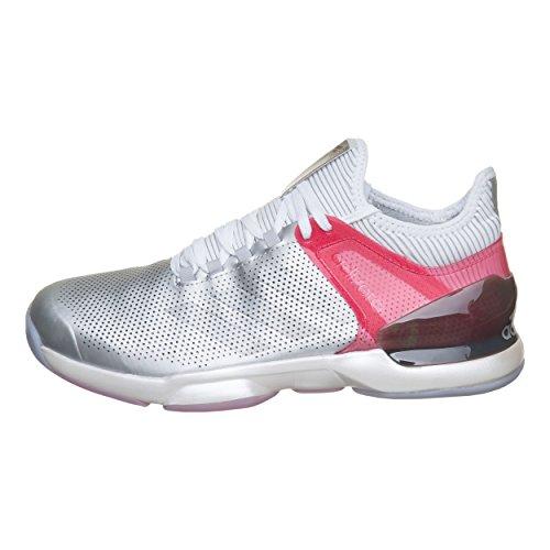 adidas Adizero Ubersonic 2 Ltd, Scarpe da Tennis Uomo, Argento (Msilve/reapnk/Ftwwht Msilve/reapnk/Ftwwht), 44 EU