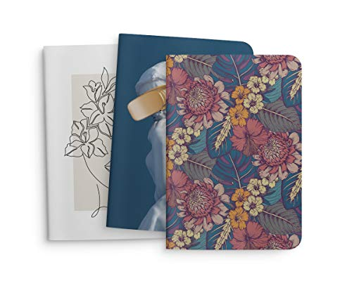 Taccuini tascabili f.to 11,5x16,5 - Copertina Soft-Touch - Fogli interni in carta diplomatica naturale - Venduti in cofanetto da 3pz