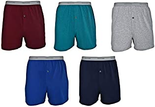 Fruit of the Loom Men's 5-Pack Soft Stretch Knit Boxer - Colors May Vary (X-Large, Assorted Color)