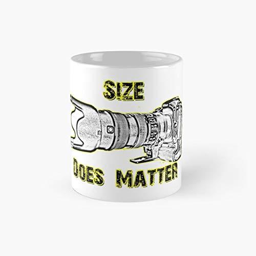 Size Does Matter Classic Taza de café divertidas, 11 oz