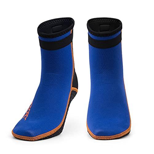 POOPFIY Calcetines de Buceo de Neopreno de 3 mm, Calcetines de Buceo Antideslizante Botas para Hombres Mujeres Snorkeling natación Agua de Surf,B,L