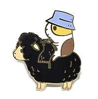 Noristudio ブブブー ギニア 豚 ニッター エナメルピン ブラック