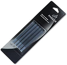 Parker : Refill Cartridge for Permanent Ink Fountain Pens, Black Ink, 5/pack -:- Sold as 2 Packs of - 5 - / - Total of 10 ...