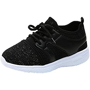 erthome School Boys and Girls Big Children Net Breathable Leisure Breathable Sports Shoes Casual Shoes Running Shoes for 2-8 Years Old (10 UK Child, Black):Iracematravel