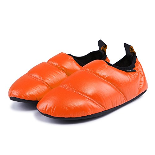 KingCamp Outdoor& Indoor Warm Camping Slippers Soft Winter Slippers with Non-Slip Rubber Sole& Carry Bag for Men& Women.