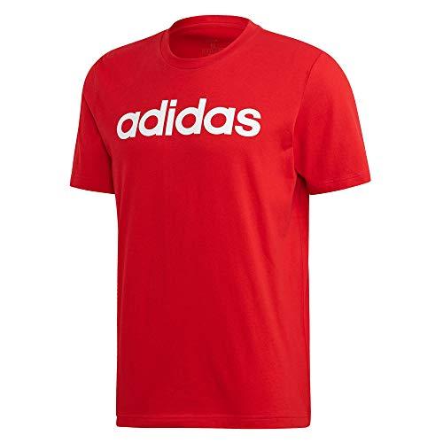 adidas E Lin tee Camiseta de Manga Corta, Hombre, Scarlet/White, 2XL