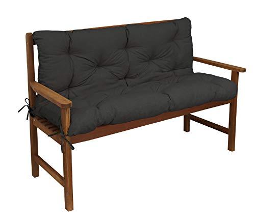 Kettler Polen Luxus 3-Sitzer Bankauflage inklusive Rückenteil Anthrazit 2171