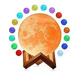 YAOJU Lámpara de luna,LED de Estado de ánimo con Interruptor Táctil, Lámpara de Luna 3...