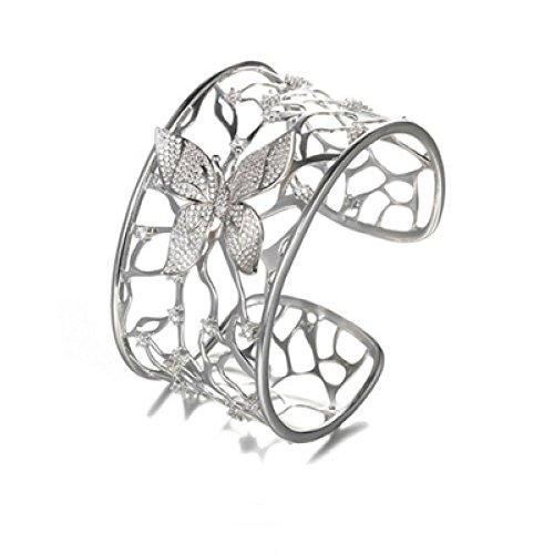 GAOQQ Übertrieben Offenes Armband Europäischen und Amerikanischen Sexy Riesenarmband Einzelnen Hand Kreis Damen Breites Armband