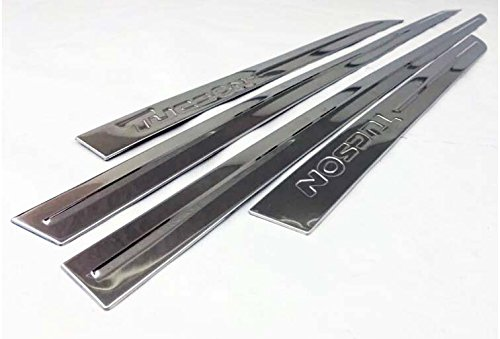 Baguettes de protection laterales en ABS Chrome