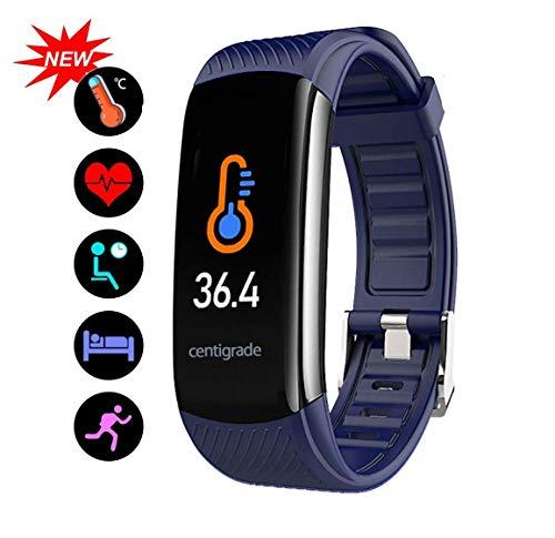 Smart Fitness Tracker Horloge - Hartslag Bloeddruk Slaapmonitor met IP68 Waterdicht, Calorie Counter Stappenteller Horloge voor Vrouwen Mannen en Kinderen