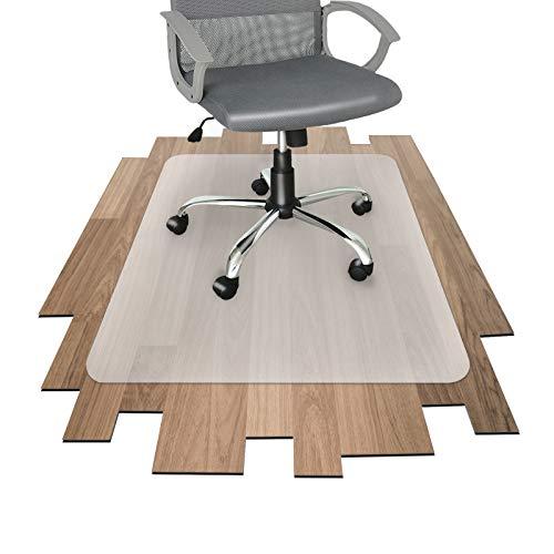 Office Marshal Bodenschutzmatte für Hartböden jeder Art - mit TÜV - bewährte Bürostuhl Unterlage für den zuverlässigen Bodenschutz - Unterlegmatte mit wählbarer Größe (75x120 cm)
